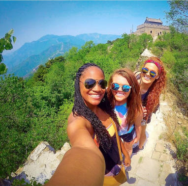 Three women in a selfie