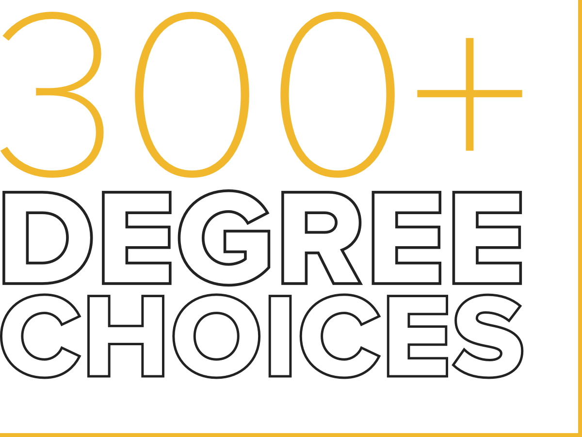 307+ Degree Choices