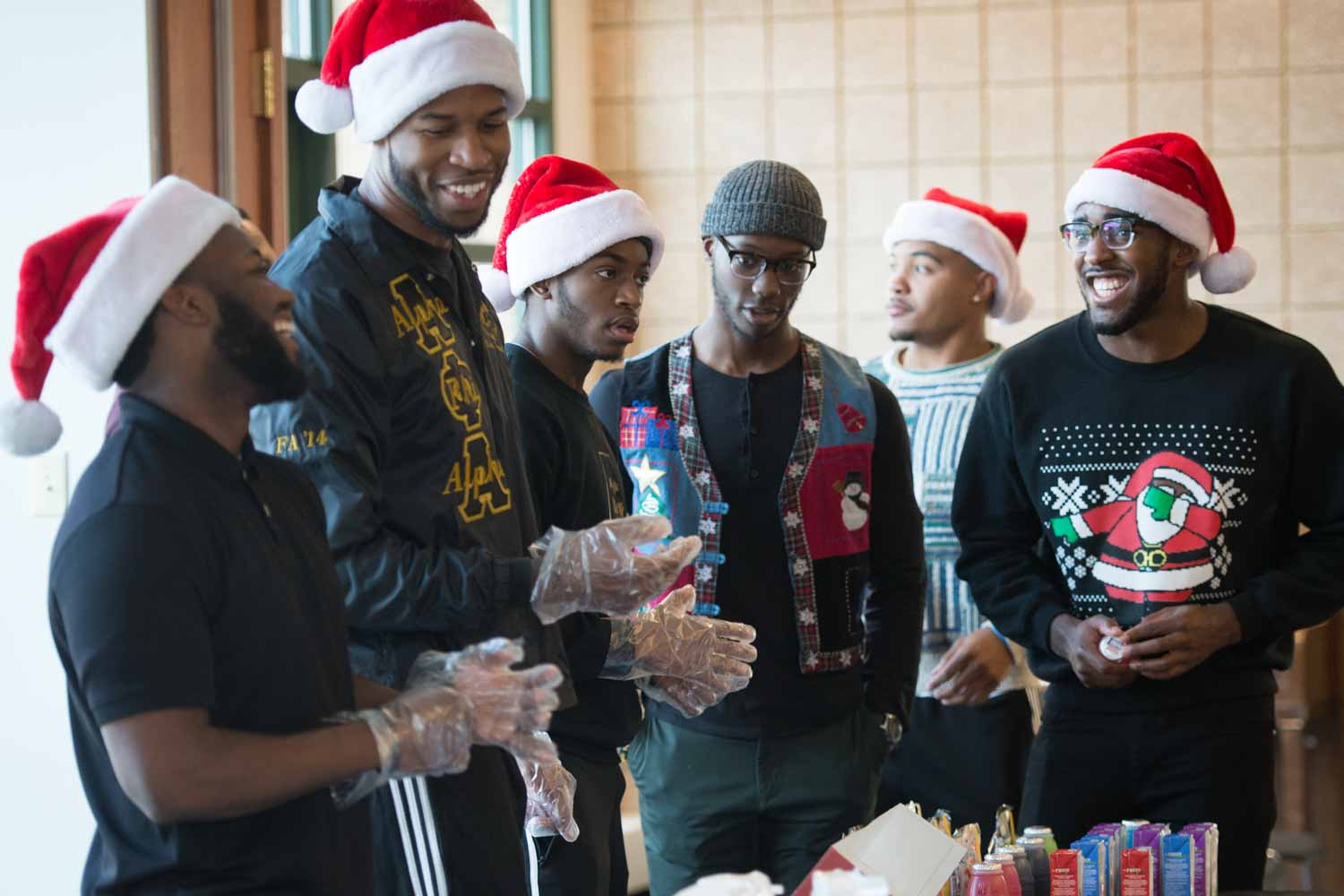 Nosa at holiday event